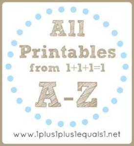 1+1+1=1 A-Z Printables
