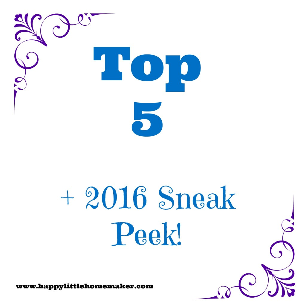 2015 top 5 and 2016 sneak peek