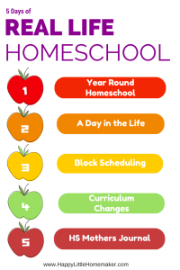 5 Days of Real Life Homeschool at Happy Little Homemaker