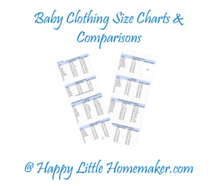 Baby Clothing Sizes Charts By Height Weight For Common Brands