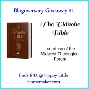 Didache NABRE Giveaway - Ends 8-15-15