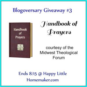 Handbook of Prayers Giveaway - Ends 8-15-15