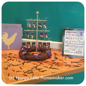 Decorating your home for lent happy little homemaker for Lent decorations for home