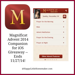 Magnificat Advent 2014 App Giveaway