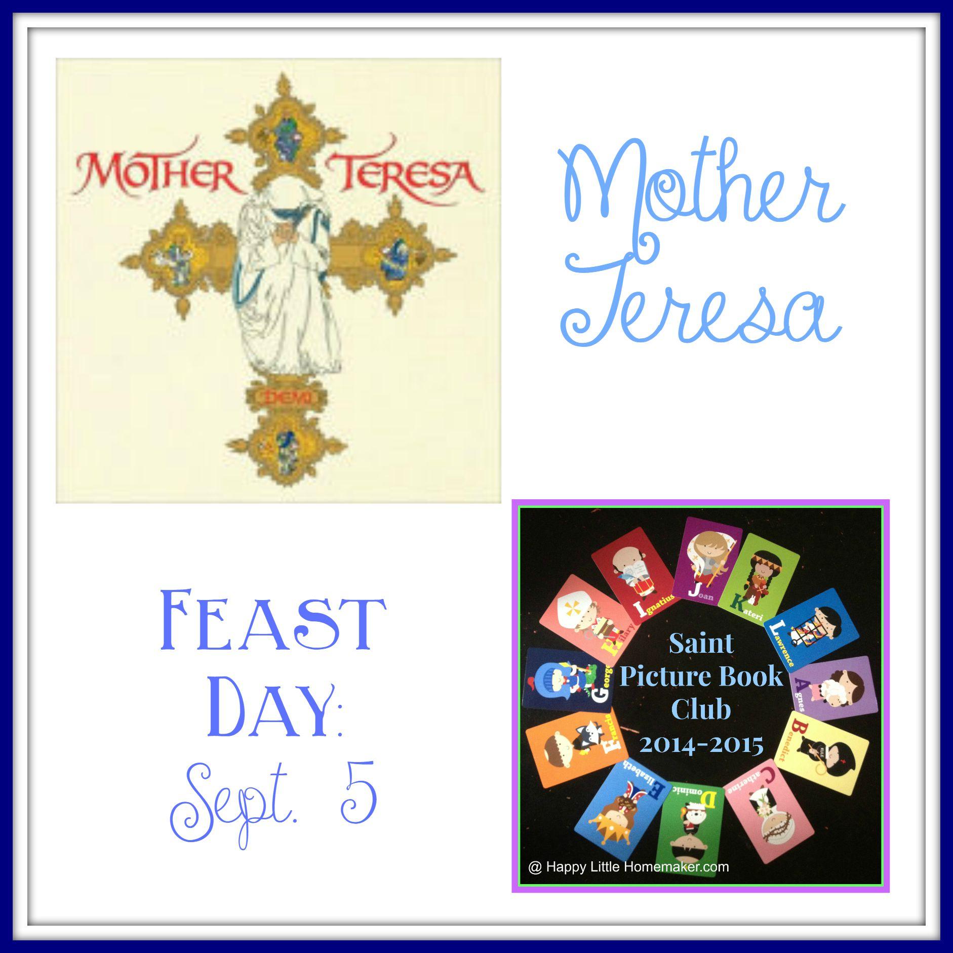 Saint Mother Teresa - September 5 - Saint Picture Book Club