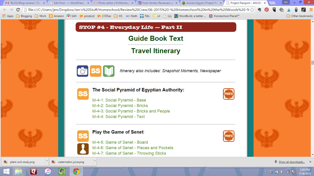 project passport ancient egypt screenshot