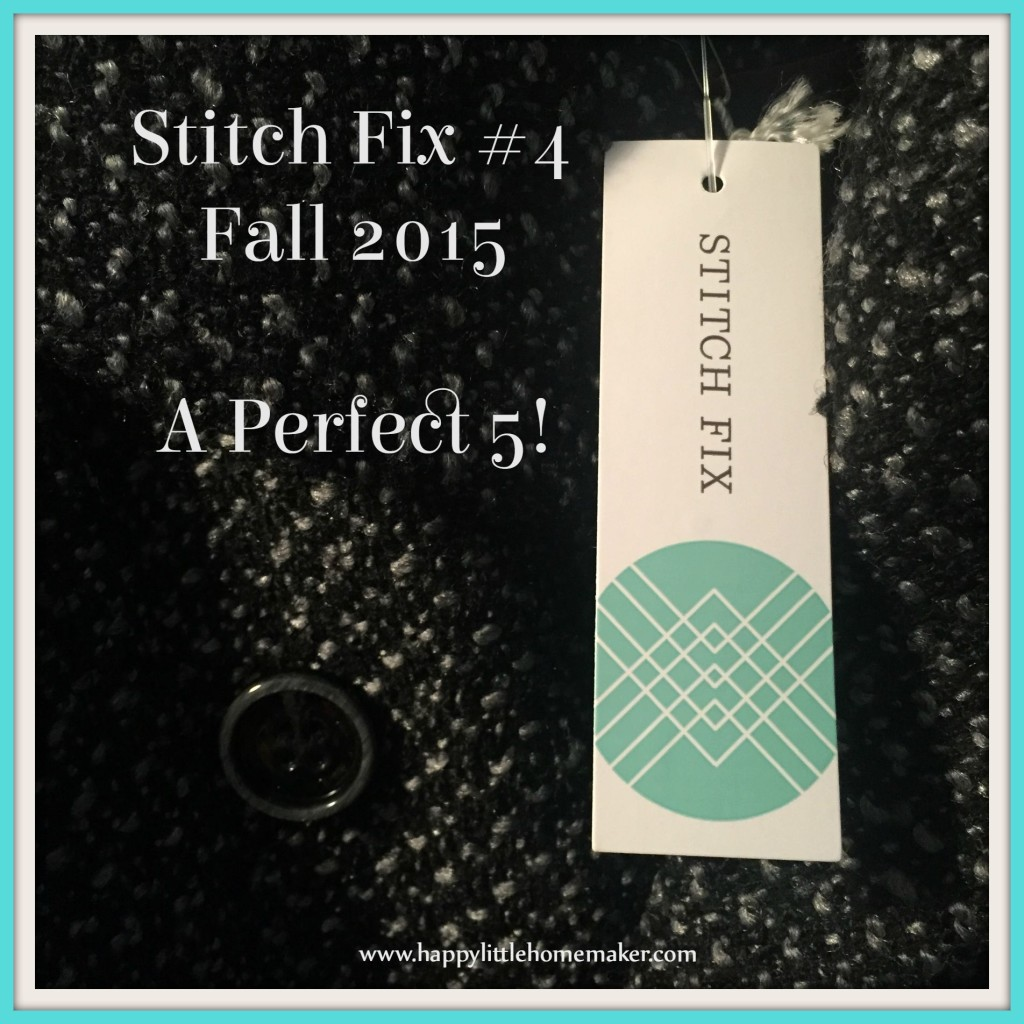 Stitch Fix 4 Fall 2015 Perfect 5