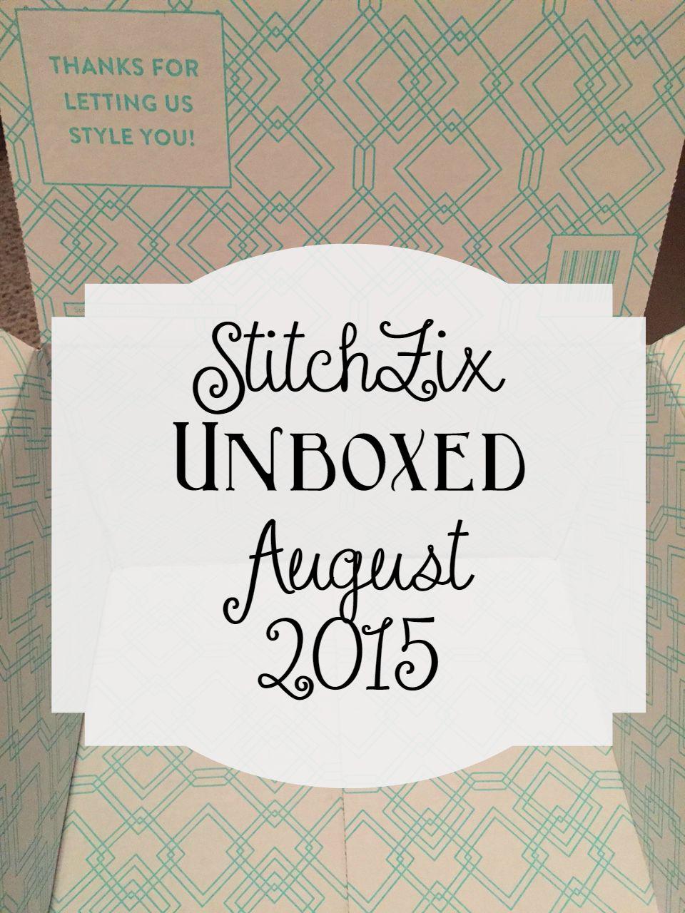 StitchFix August 2015 Unboxing Video