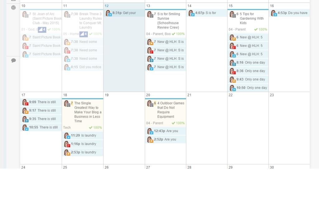 coschedule social media schedule