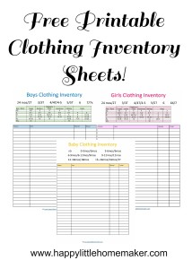 Free Printable Clothing Inventory Sheets  Inventory Sheets Printable