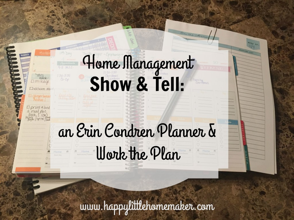 home management erin condren work the plan