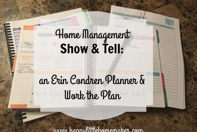 home management erin condren work the plan
