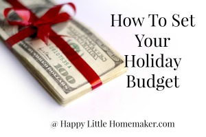 How to set your holiday budget