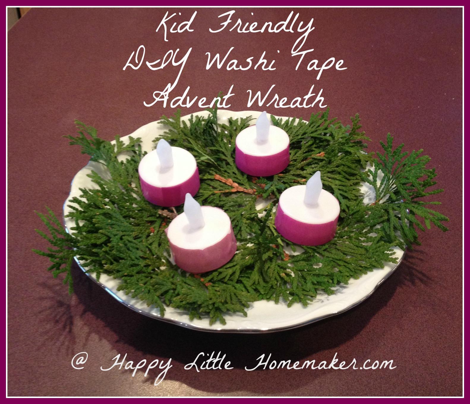kid friendly diy washi tape advent wreath
