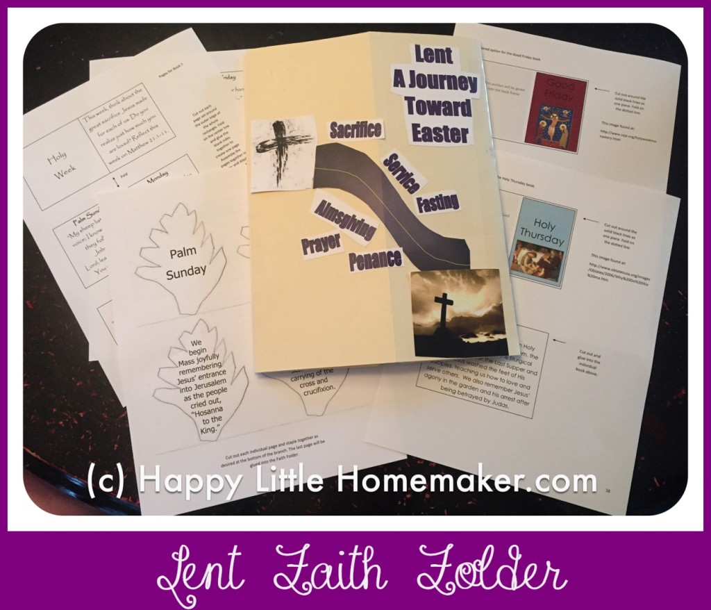 lent faith folder