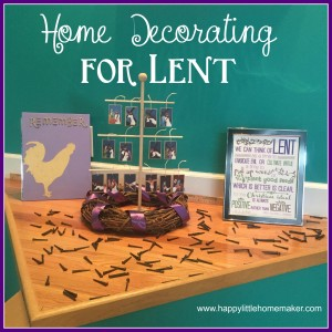 lent home decorations