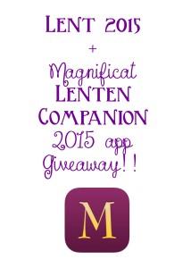 Magnificat Lent Companion app giveaway