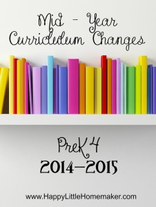 mid-year curriculum changes prek