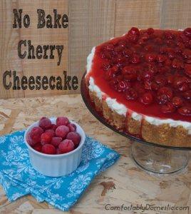 no bake cherry cheesecake comfortably domestic