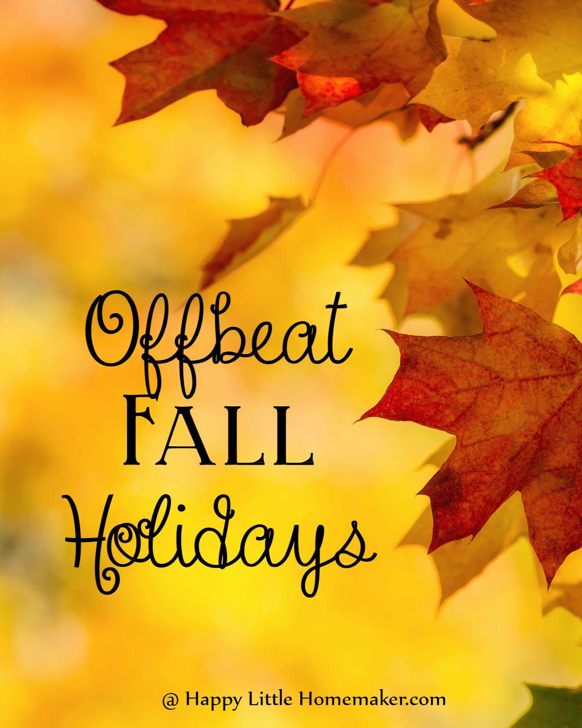 offbeat fall holidays