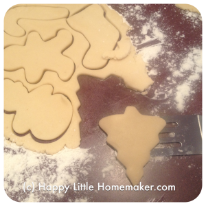 sugar cookies cut and wiggled