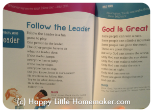 devotions for beginning readers review inside