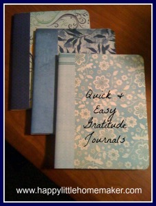 quick and easy gratitude journals