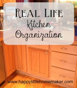 real life kitchen organization