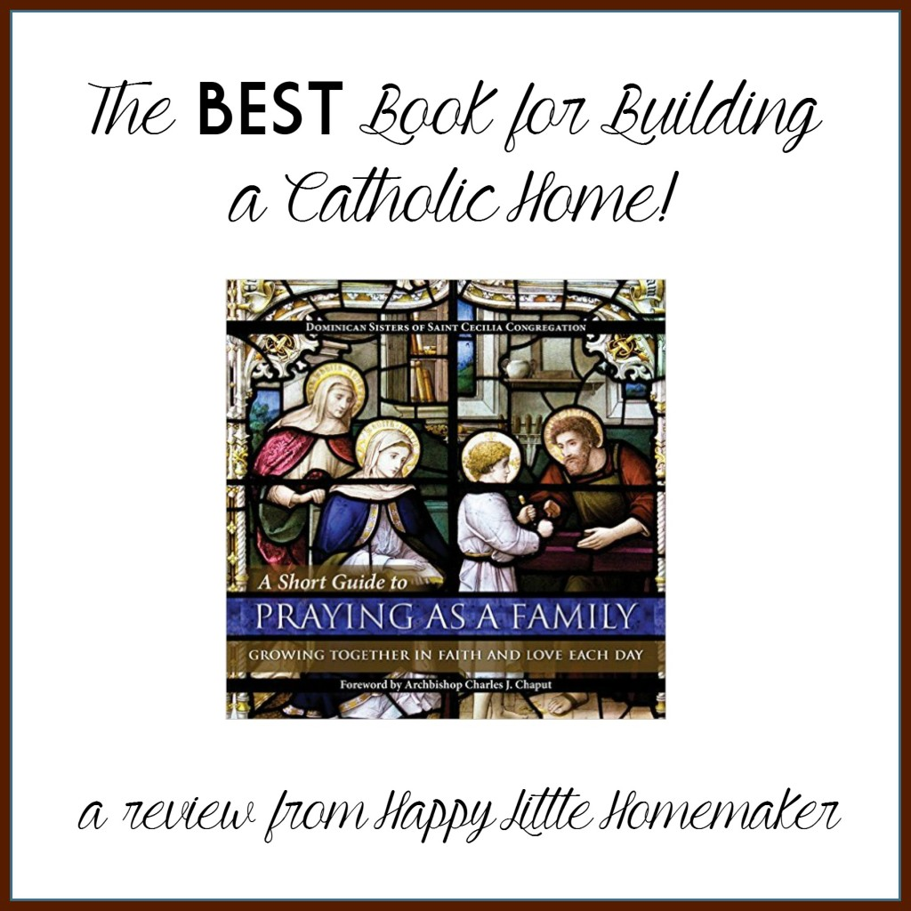 short guide to praying as a family catholic book review