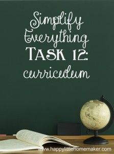 simplify 12 curriculum