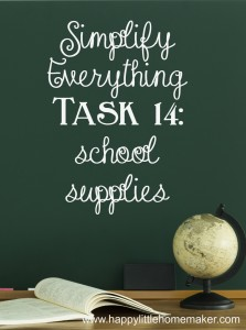 simplify 14 school supplies