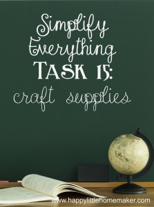 simplify 15 craft supplies