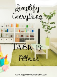 simplify everything 19 pillows