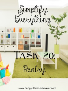 simplify everything 20 pantry