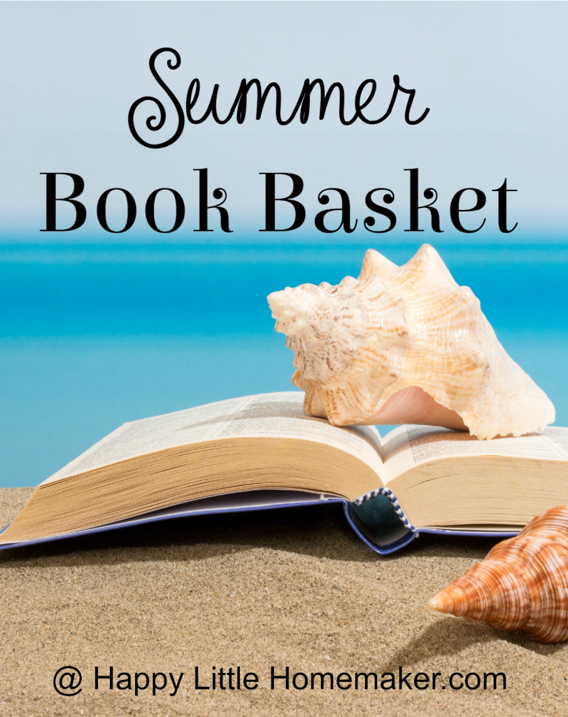 summer book basket